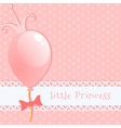 Background little princess vector image