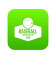 baseball icon green vector image vector image