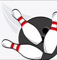 bowling sport vector image vector image