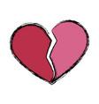 broken heart symbol vector image vector image