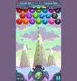 Bubbles shooter game screen vector image