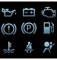 Car interface symbols vector image vector image