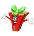 cartoon gift vector image