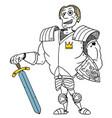 cartoon medieval fantasy hero knight prince vector image vector image