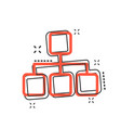 cartoon structure diagram icon in comic style vector image vector image