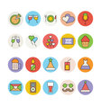 Celebration and Party Icons 3 vector image vector image