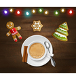christmas and new year poster vector image