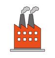 color image cartoon building industrial factory vector image vector image