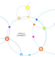 connect circle and point with intersections vector image vector image