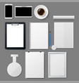 corporate template set mockup stye vector image