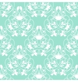 Elegant damask mint seamless background vector image vector image
