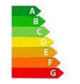 energy efficiency rating set vector image vector image