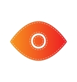 Eye sign Orange applique isolated vector image vector image