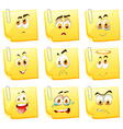 Facial expression on papers vector image vector image
