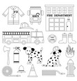 firehouse digital stamps vector image vector image