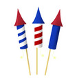 firework icon happy 4 th july and independence vector image vector image