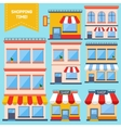 Flat Store Icons Collection vector image vector image
