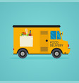 food delivery meal-kit delivery service online vector image vector image