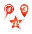 Go Bubbles Stickers set vector image