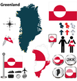Greenland map small vector image