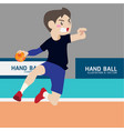 handball athletic sport cartoon set vector image vector image