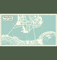 hong kong china city map in retro style outline vector image