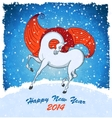 Horse on christmas card vector image vector image