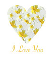i love you valentines wedding card vector image vector image