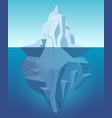 iceberg in ocean big ice white rock in water vector image vector image