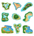 island islet or peninsula with beach and vector image