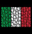 italian flag pattern of soldier helmet items vector image