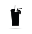 juice in a glass black vector image vector image