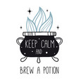 keep calm and brew a potion vector image vector image