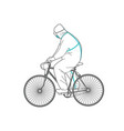 man in protective clothing on a bicycle vector image vector image
