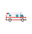 medical emergency car icon isolated on white vector image vector image