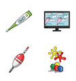 medicine fishing and other web icon in cartoon vector image vector image