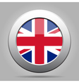 metal button with flag of UK vector image