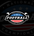 national championship american football logo on a vector image vector image