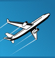 plane takes off pop art vector image vector image