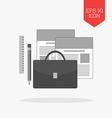 Portfolio concept icon Flat design gray color vector image vector image