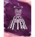 Poster wedding dress violet vector image vector image
