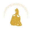 princess with dust glitters princess with dust vector image vector image