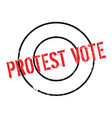 protest vote rubber stamp vector image vector image