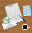 salary tax top view concept vector image