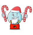 santa with candy gumball machine mascot cartoon vector image