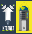 satellite and router related with internet vector image vector image