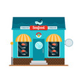seafood restaurant front vector image vector image