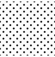 seamless black polka dot pattern on white vector image