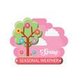 seasonal weather design vector image