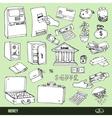 Set of cartoon money vector image